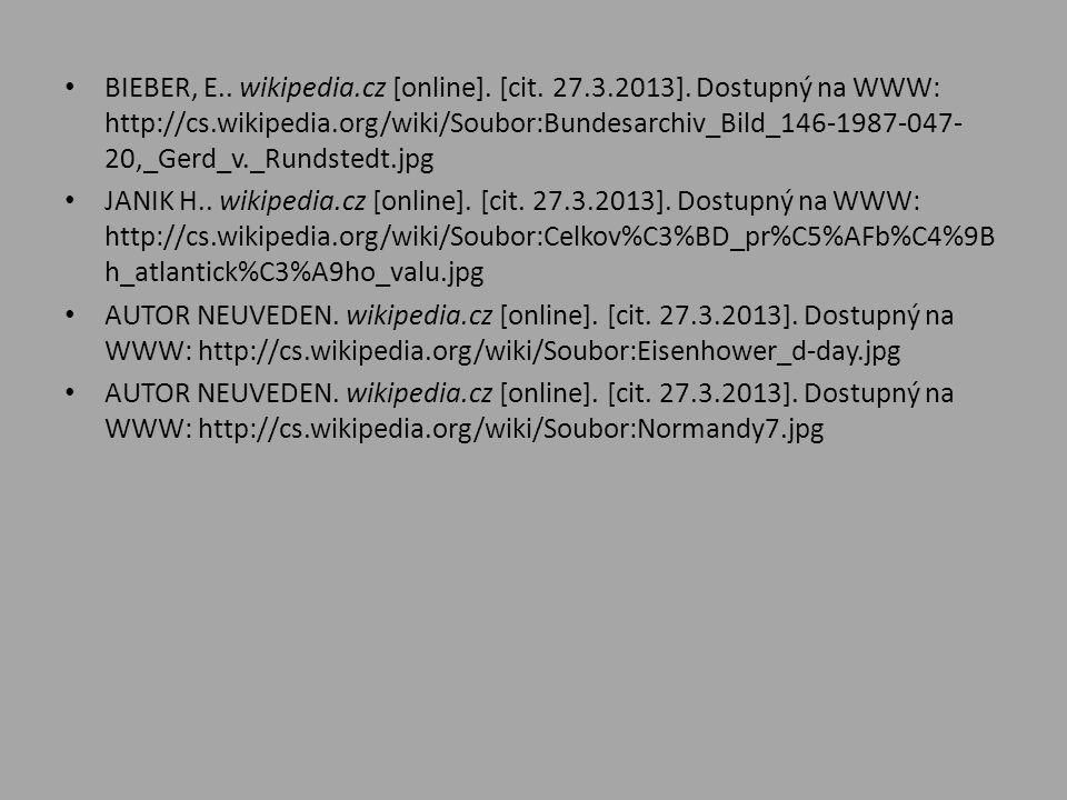 BIEBER, E. wikipedia. cz [online]. [cit. 27. 3. 2013]
